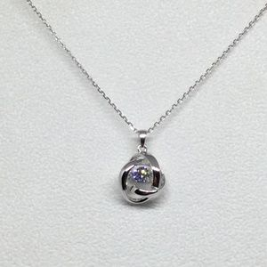 """Jewelry - Genuine Silver and CZ Dancing Pendant 18"""" Chain"""